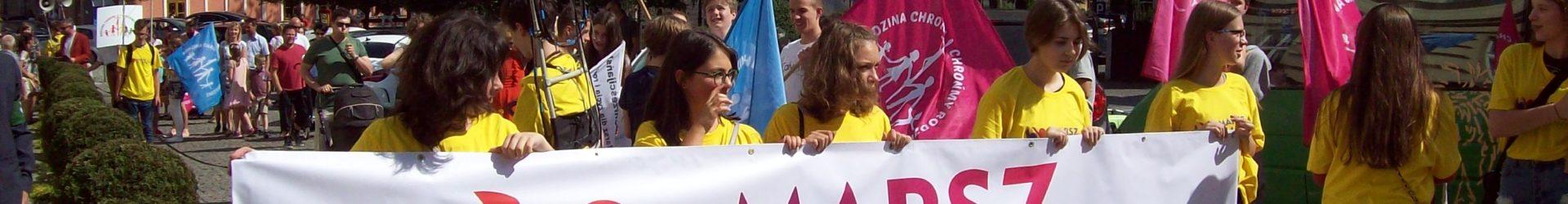 """""""Polska rodziną silna""""- Marsz dla Życia i Rodziny w Bielsku-Białej"""