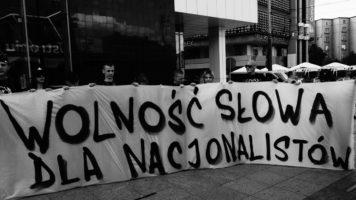 """""""Maski opadły – PIS PO jedno zło!"""" Narodowcy kontra prezydent Katowic – manifestacja"""