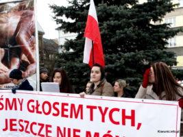 Bielsko-Biała: Pikieta Pro Life na Dzień Kobiet