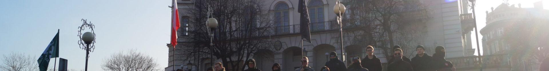 """Bielsko-Biała: Pikieta """"Nacjonaliści w obronie środowiska"""""""